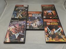 Lot of 5 Star Wars Playstation 2 PS2 Games - Lego Star Wars - Battlefront II...