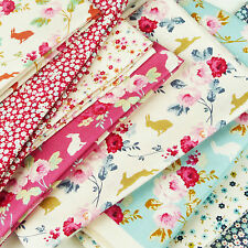 Tilda ~ Cabbage Rose Fabric Scrap Pack / quilting nursery rabbit quilt