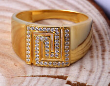 Ring Gold Diamond S Men Band Yellow 14k 10k Wedding Mens Round Ct Size Solid 10
