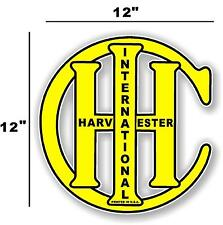 "12"" INTERNATIONAL IH YELLOW - HIT AND MISS GAS ENGINE TRACTOR STICKER"