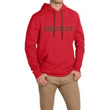 Marmot Men's Red Graphic Cotton Fleece Lined Pullover Hoodie Jacket, size L NEW