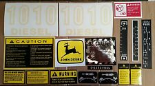 New Hood & Safety Decal Set For John Deere Tractor 1010