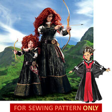 SEWING PATTERN! MAKE MERIDA COSTUME! BRAVE~DISNEY PRINCESS! VAMPIRE GOWN~DRESS!