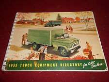 1955 GMC TRUCK EQUIPMENT DIRECTORY MANUAL / 55 GMC BODIES BROCHURE, SILVER BOOK