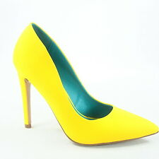 Women's Fashion Sexy Color Pointed Toe Patent Pump Heels Shoes Size 5.5 - 11 NEW