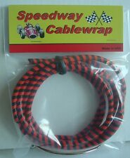 Black & Orange Speedway Cable Wrap Coil Cover Motorcycle /  Bicycles / Scooters