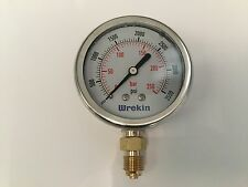Hydraulic Pressure Gauge 63mm Bottom Entry 0-3500 PSI 250 Bar Gauges GB63250/04