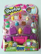 SHOPKINS SEASON 2 (12 PACK + 4 BAG'S +1 BASKET) COLLECTABLE TOYS  FREE SHIPPING