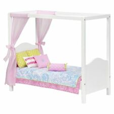 OUR GENERATION White Sweet Canopy Bed Bedding Pillows Fits American Girl! Fast!