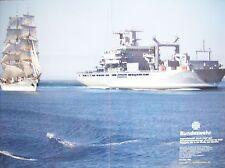 """Poster Bundeswehr Schiff Schiffe """"Gorch Fock + EGV"""" - DIN A2 - NEU"""