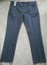 """M&S Navy Office Party Stretch Cotton Straight Fit Trouser(NEW)-W40"""" L33""""-£39.50"""