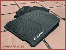 2012-2014 Toyota Camry All Weather Rubber Floor Slush Mats Front and Rear OEM