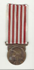 WWI French France Award medal showing Soldier sword