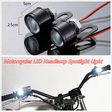 2 Pcs DC12V LED Motorcycles Handlebar Headlight Daytime Running Lights Spotlight