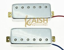 Chrome LP Guitar Mini Humbucker Neck Bridge Pickup Set  Pickups for Les Paul