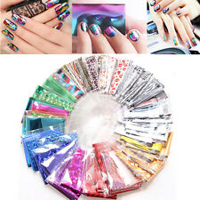 20 x Foils Finger DIY Nail Art Sticker Decal Water Transfer Stickers Tips Decor