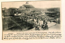 24655 PC Postcard China Shanghai Entrance to the chinese quarter from the french