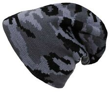 URBAN CAMO - NEW - BEANIE / HAT - KNITTED COLD WEATHER - WINTER - CAP ARMY