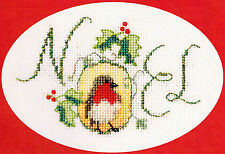 Derwentwater Designs Christmas Cross Stitch Card Kit - Noel Robin