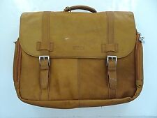 NWD - Kenneth Cole Leather Briefcase Laptop Messenger Bag - Cowhide
