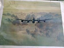 Gerald Coulson WW11 signed print-lg 22 x 30
