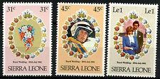 Sierra Leone 1981 SG#668-670 Royal Wedding MNH Set #R392