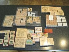 Stampin Up DOTS wooden rubber stamp lot huge 114 stamps