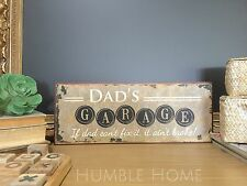 Dad's Garage Tool Workshop Novelty Tin Sign*Mens Shed /Dad Gift*Man Cave
