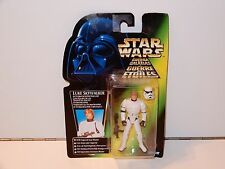 STAR WARS - 1997 POTF2 LUKE SKYWALKER STORMTROOPER MOSC TRI-LOGO CARD KENNER