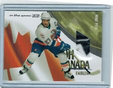 2003-04 ITG USED SIGNATURE MIKE PECA OCE-12 OH CANADA EMBLEM /19 2-COLOR