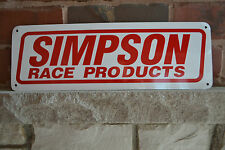 SIMPSON RACE PRODUCTS RACING GEAR ADVERTISING LOGO GARGE SIGN HOTROD DRAGSTER