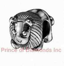 King Lion Charm european bead jewelry Sterling Silver