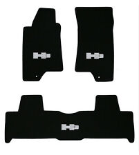 NEW! BLACK FLOOR  Mats 2006 HUMMER H3 Embroidered Script Logo in Silver 3 pc SET