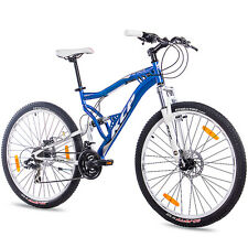 "27,5"" POLLICI MTB MOUNTAIN BIKE BICICLETTA RUOTA KCP Attack con 21 marce Shimano Blu Top"
