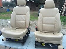 B BMW E60 E61 LEATHER SEATS SEAT 550I 530I 535I OEM SET TAN COLOR
