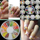 Hot Sale Nail Art DIY Acrylic Glitters Tips Decoration Manicure Bead Wheel Gem