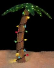 "32"" Pre-Lit Soft Tinsel Palm Tree Christmas Yard Art Decoration (New in Box)"