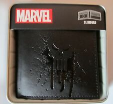 Punisher War Zone Frank Castle Marvel Comics Slimfold Wallet BRAND NEW - BLACK