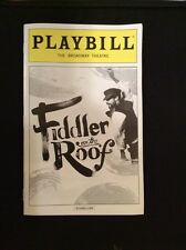 FIDDLER ON THE ROOF PLAYBILL MUSICAL NYC 2016