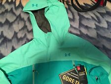 New Under Armour Womens UA Hurakan Paclite 2.5L Gore-tex Hooded Jacket Sz S