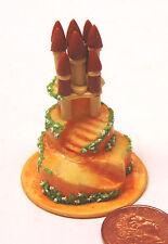 1:12 Scale multi nivel Pastel De Bodas Casa de muñecas en miniatura Partido alimentos Accesorio Zt