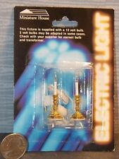 Dollhouse Miniature Electric Candle Stick Lights Set 1:12 one inch scale F53