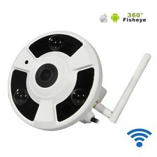 TELECAMERA HD IP CAMERA WIFI 360° LED INFRAROSSI SENSORE MOVIMENTO PANORAMICA