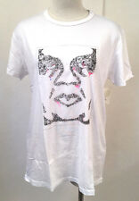 Obey Women's Classic Crewneck T-Shirt Floral Icon White SM NWT Shepard Fairey