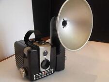 Kodak Brownie Hawkeye & Flash Attach  Vintage Box film camera