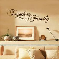 """Together we make a Family"" Words Quote Art DIY Wall Stickers Decal Home Decor"
