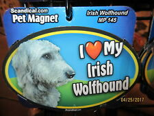 I Love My Irish Wolfhound 6 inch oval magnet for car or anything metal  New
