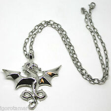 """Fashion 20.5"""" Inch Chain Brave Hunting Eagle Pendant Silver Necklace Jewellery"""