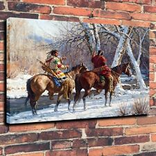 "HD Art Canvas Print Oil Painting  Indians Hunting Stories Wall Decor ,18""x24"""