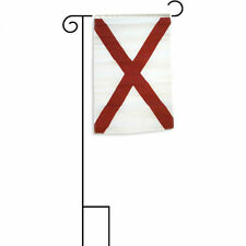 """12x18 12""""x18"""" State of Alabama Sleeved w/ Garden Stand Flag"""